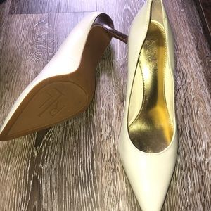 Ralph Lauren cream colored heals